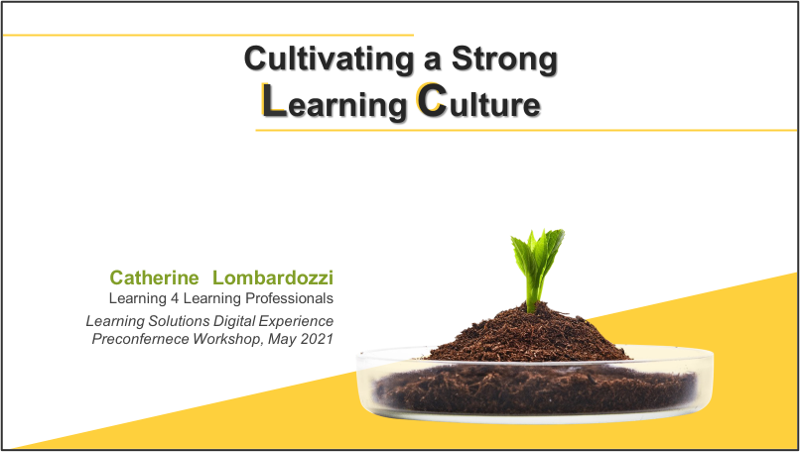 Cultivating a Strong Learning Culture cover slide graphic